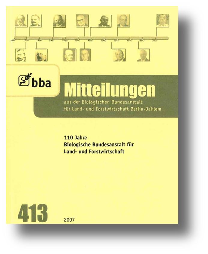 Mitteilungen aus der BBA Titelseite