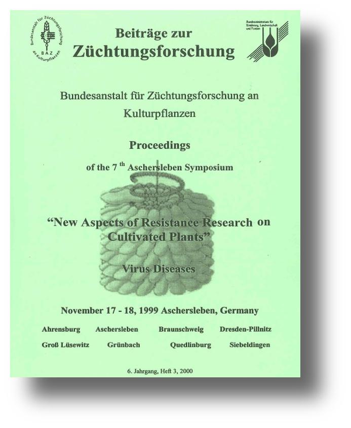 Beiträge zur Züchtungsforschung Titelseite