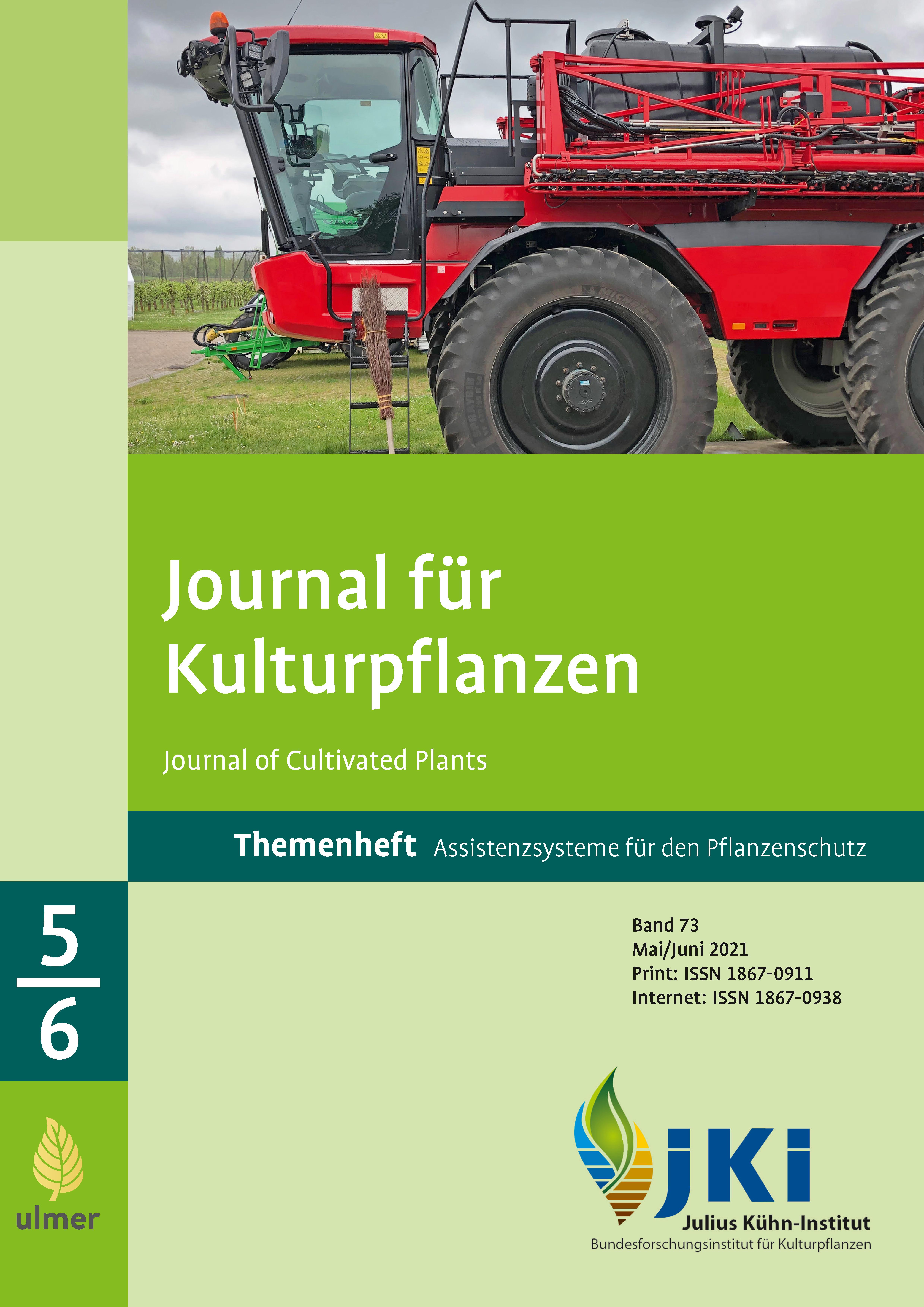 Ansehen Bd. 73 Nr. 5-6 (2021): Themenheft: Assistenzsysteme für den Pflanzenschutz