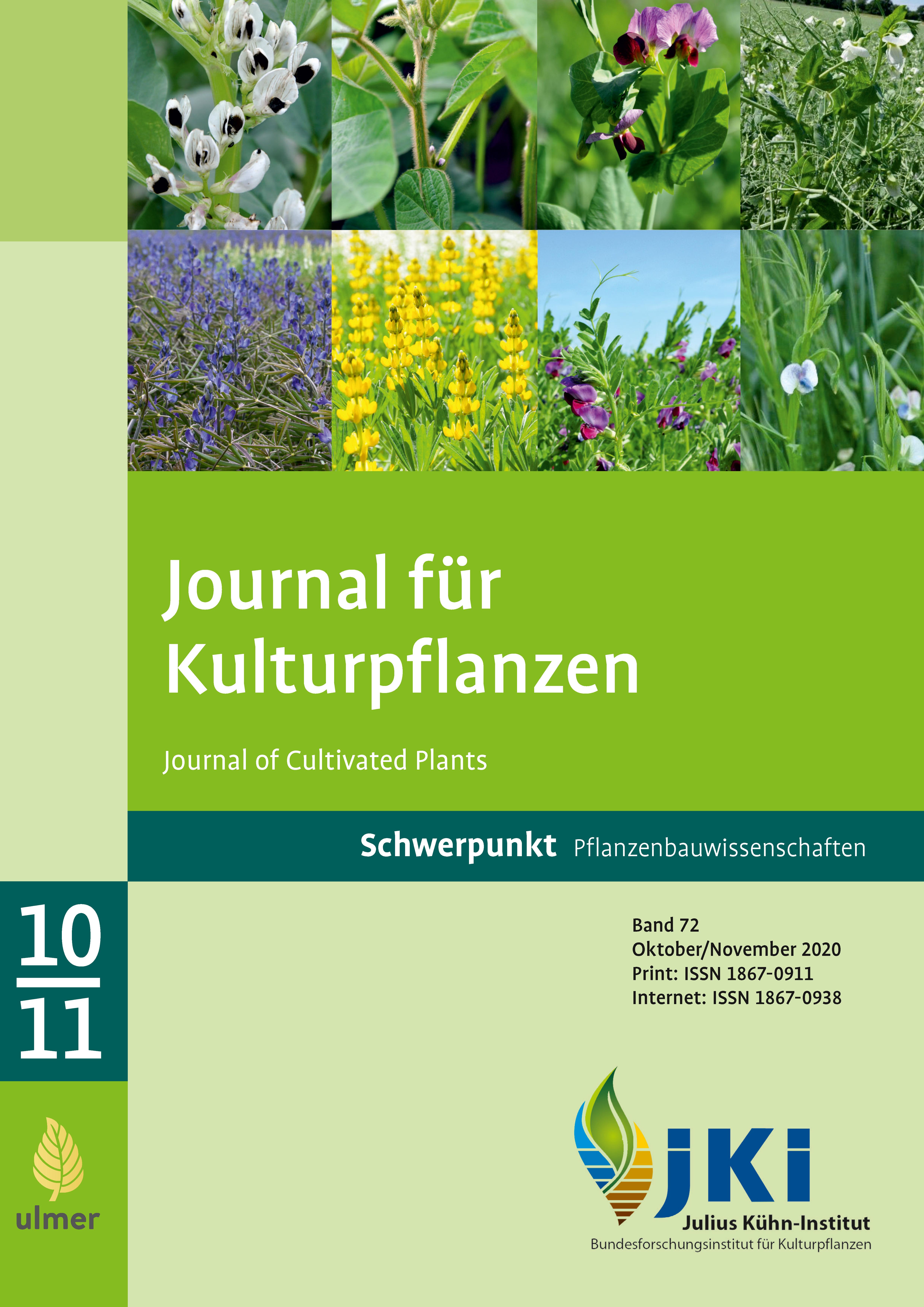 Ansehen Bd. 72 Nr. 10-11 (2020): Schwerpunkt Pflanzenbauwissenschaften