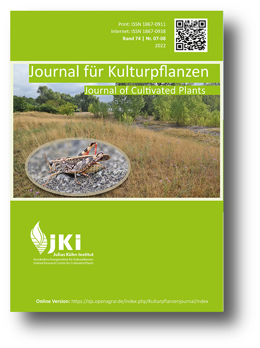 Titelbild Journal für Kulturpflanzen September 2020