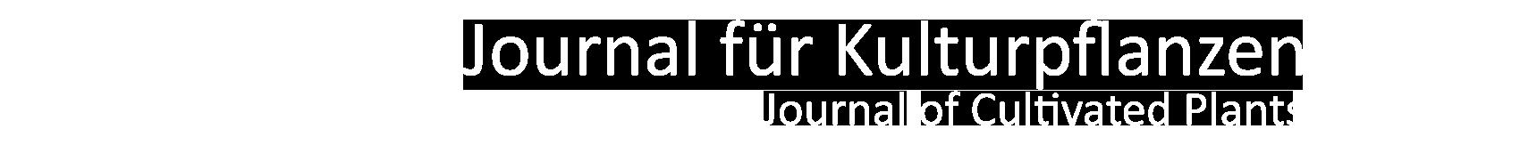 Header Journal für Kulturpflanzen