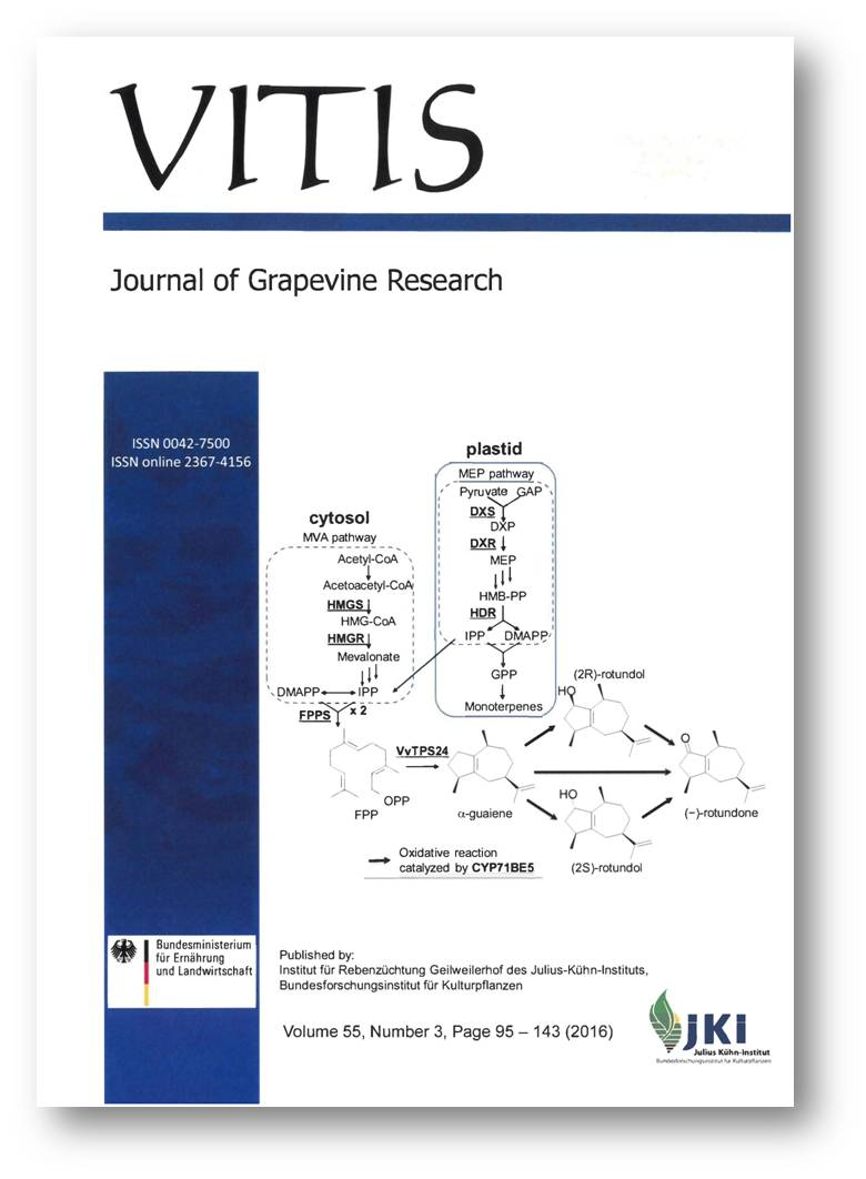 Titlepage of Issue 54 of VITIS